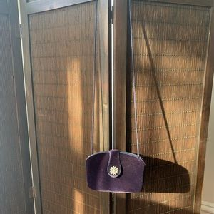 Handbags - Navy velvet evening bag